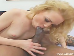 Skinny white wife fucks big black cock