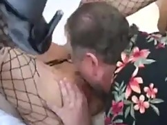 Slut takes big black cock in the ass, husband cleans.