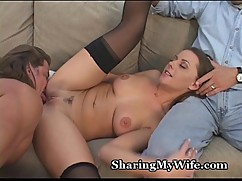 Husband shares his cock hungry wife