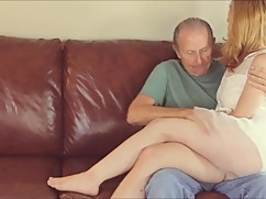 Lisa sucked and he kisses his young wife older