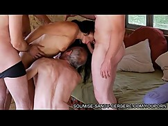 Triple fist anal french slut hogtied and his flirtatious wife