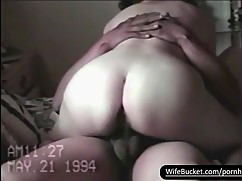 Vintage sextape chubby wife fucked well