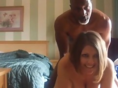 Cheating housewife tries a big black cock