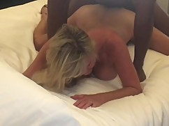 A pair of hotwife big black cocks girl getting bent