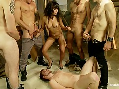 Good cuckold, wife gangbang