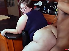 Bbw pawg wife lily cassanova cheating on her husband with a big black cock